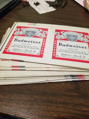"37 Budweiser metal sights 8"" 1/2 by 5"" for Sale in Allentown, PA"