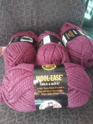 4 skeins Wool-Ease Lion Brand Yarn NEW for Sale in Montgomery, AL