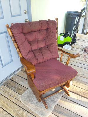 Oak rocker glider chair for Sale in Avon Park, FL