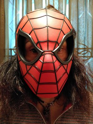 Halloween, Spiderman Mask Made of Durable Plastic. Halloween Costume. for Sale in Chicago, IL