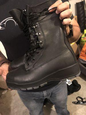 Black Work Boots- Vibram sole- steel toe, Size 7W for Sale in Fairfax, VA