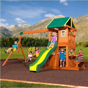 Brand new in box Backyard Discovery Oakmont Cedar Swing Set. $500 FIRM for Sale in Redlands, CA