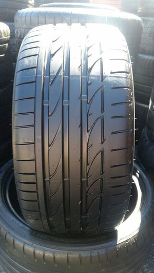 255/35/19 Bridgestone potenza soo1 used tires for Sale in Tampa, FL