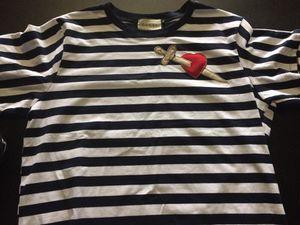 Gucci nave Blue strip short sleeve shirt size 2x may fit like an Xl for Sale in Tampa, FL