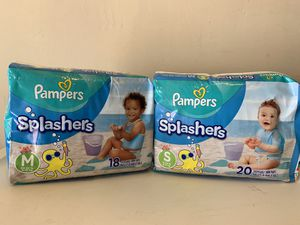 Pampers Splashers $6 each for Sale in Pacifica, CA