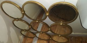 150$ hobby lobby mirror 9 circles round gold square wall for Sale in Clarksville, TN