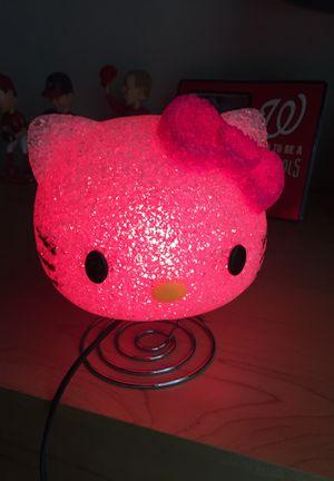 Hello kitty night light any color lightbulb for Sale in Chesapeake, VA