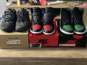 Yeezy 500 Utility Black, Jordan 1 Pine Green and Unc to Chi for Sale in Chicago, IL