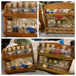 Antique spice racks with glass bottles for Sale in Gibsonia, PA