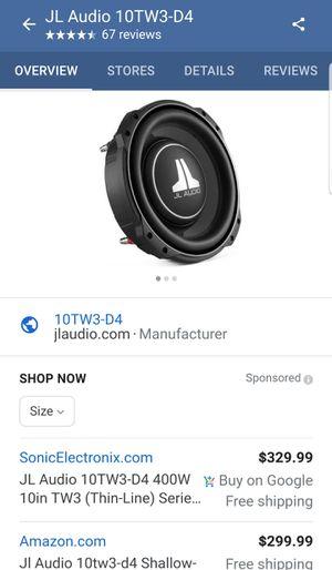 "JL AUDIO 10"" subs for Sale in Pomona, CA"