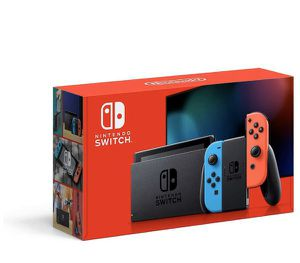 BRAND NEW IN BOX! AUTHENTIC Nintendo Switch w/Neon Blue & Neon Red Joy Controllers (2 Total) w/Carry Case +12 Month Membership Nintendo Switch Online for Sale in Davie, FL