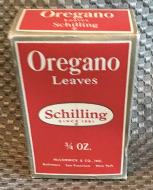 Vintage box of dried oregano Schilling for Sale in Vancouver, WA
