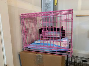 Pink small dog crate for Sale in Vancouver, WA