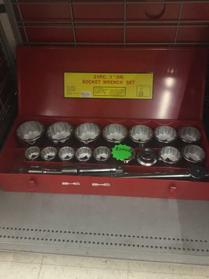 "21pc 1"" DR socket wrench set for Sale in Oklahoma City, OK"