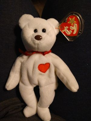 Beanie baby with errors and pvc beads valentino the bear for Sale in Cordova, TN