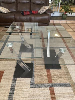 Glass Coffee table & end tables for Sale in Pinole, CA
