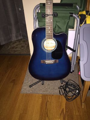 acoustic guitar, amp, stool, tuner, extra string, etc for Sale in Elkridge, MD