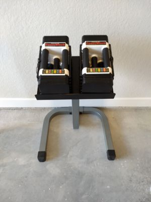 Power Block dumbbells with stand for Sale in Clearwater, FL