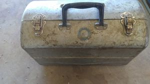Vintage Union tool box water proof with tools in it for Sale in Tucson, AZ