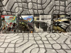 Ps2 Racing Games! Need for speed most wanted, pro street, ATV! for Sale in Roseville, CA