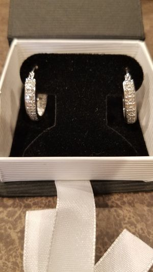 Diamond hoop earrings for Sale in Advance Mills, VA