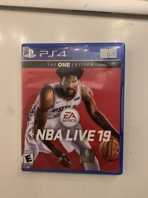 NBA live 19 (ps4) for Sale in Pomona, CA