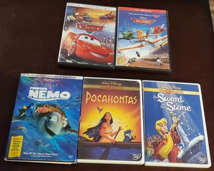 DISNEY DVD's . CARS , PLANES , FINDING NEMO , POCAHONTAS. SWORD IN THE STONE ..... $5 each FIRM for Sale in Las Vegas, NV