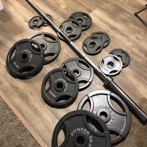 Barbell And Weights 300lb Total+ Promotion for Sale in Seattle, WA