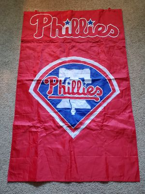 44x28 Phillies Banner and 18in Phillies Bat for Sale in Virginia Beach, VA