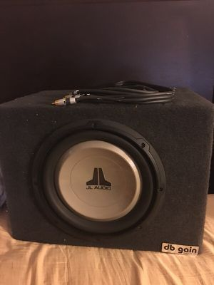 "J L audio 10"" speakers with box for Sale in Fresno, CA"