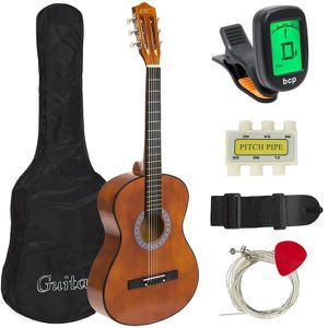38in Beginner Acoustic Guitar Starter Kit w/ Case, Strap, Tuner, Pick, Strings - for Sale in Dublin, OH