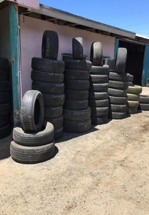 Used tires $15 in a good condition check in water before putting back on vehicle for Sale in Fresno, CA