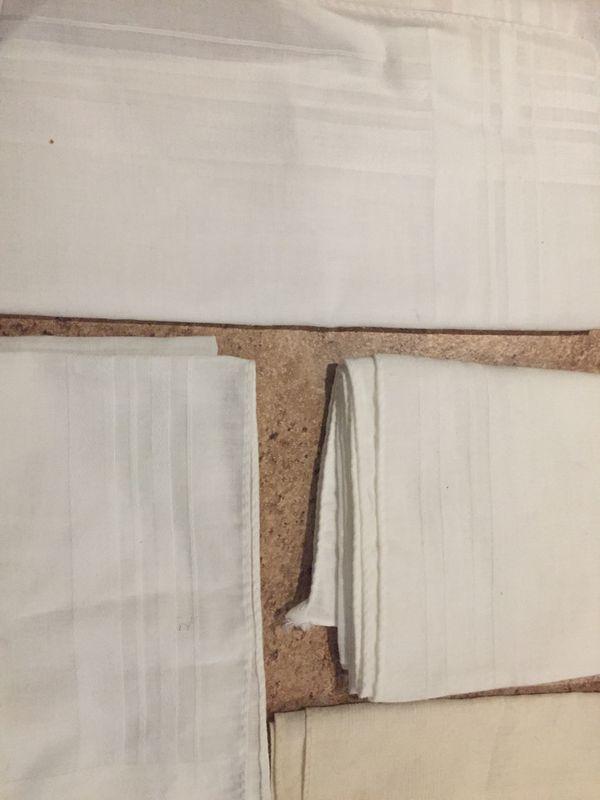 Men's vintage antique white handkerchief suit bundle linen
