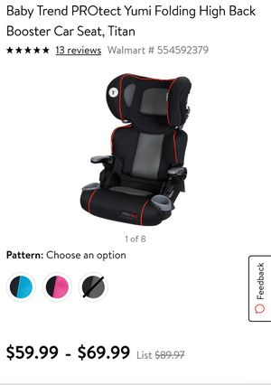 Booster seat/ car seat for Sale in Melvindale, MI