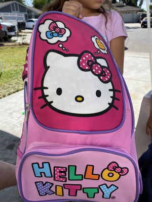 Hello Kitty backpack with sleeping bag for Sale in Bloomington, CA