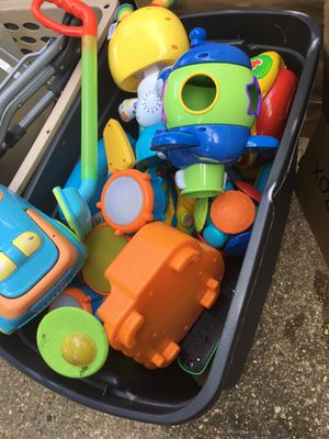 Large tote full of activity toys for 25 Firm for Sale in Severn, MD