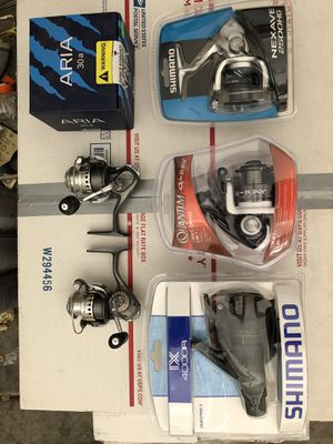 6 brand new spinning reels for fishing for Sale in Sun City, AZ