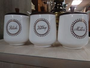 Three piece condiment set for Sale in Hollywood, FL