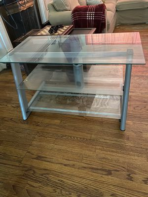 3 tier glass tv stand for Sale in Chico, CA