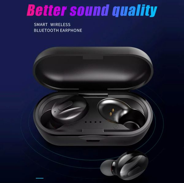 Wireless Earbuds Headphones Headset With Mic Waterproof TWS Earphones 5.0 Bluetooth AirPods2