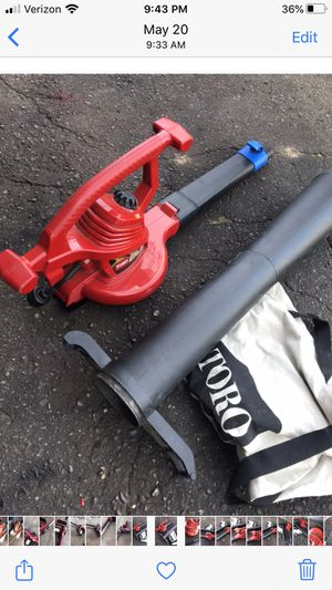 Electric Toro leaf blower with back attachment practically new for Sale in Waterford Township, MI