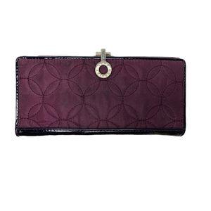 Vera Bradley Purple Quilted Microfiber Wallet for Sale in Buford, GA