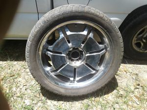 Set of 22 inch universal rims and tires for Sale in Jacksonville, FL