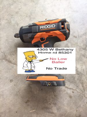 Used 1/2 Impact Wrench (No Battery No Charger) Brushless RIDGID 1/2 Wrench (X5) 18V for Sale in Glendale, AZ