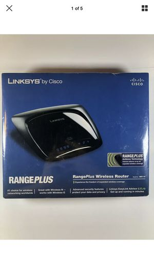 Linksys WRT110 24 Mbps 4-Port 10/100 Wireless G Router, New Sealed! for Sale in Houston, TX