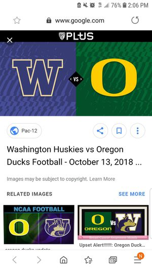 Husky Duck tickets for Sale in Federal Way, WA