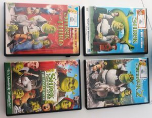 Lot of 9 kids DVDs Shrek, Gnomeo and Juliet, Rio 2, Aliens vs Monsters, Kung Fu Panda for Sale in Los Gatos, CA