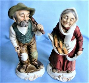 Vintage old people figurines Napcoware farmer peasant collection 6.5 inch high— for Sale in Northfield, OH