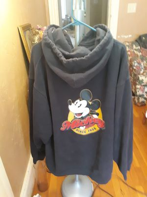 Disney store Mickey mouse Hoodie navy blue size xxl new for Sale in Southbridge, MA