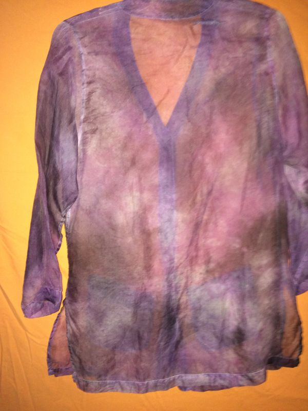 Sheer purple Oversize cover up shirts